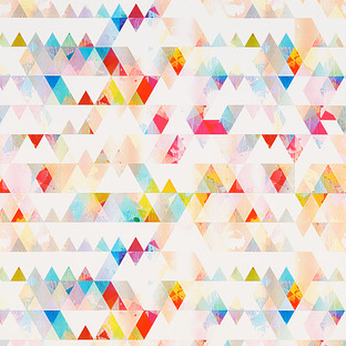 Multicolor Mod Triangles Treeless Wrapping Paper