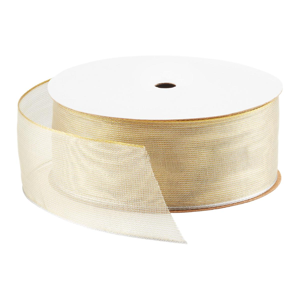 Champagne Firefly Wired Ribbon