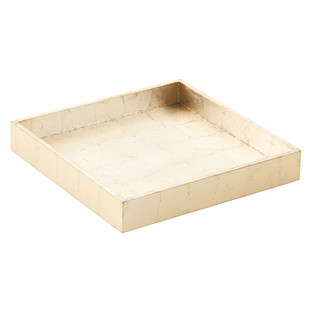 Gold Square Lacquered Serving Tray
