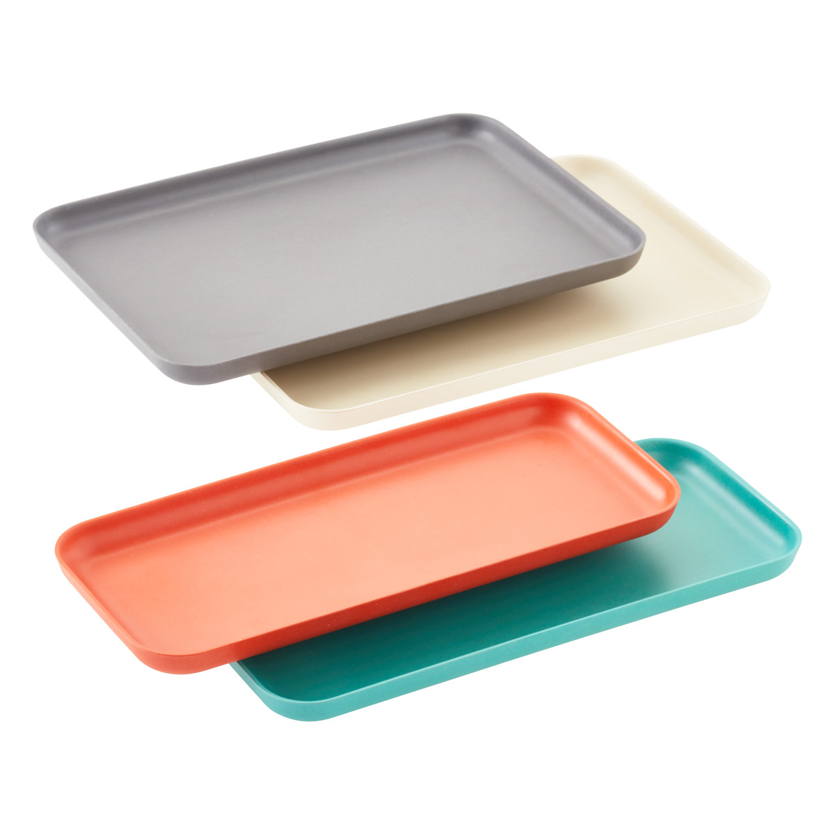 Multi-Color Bamboo Serving Trays