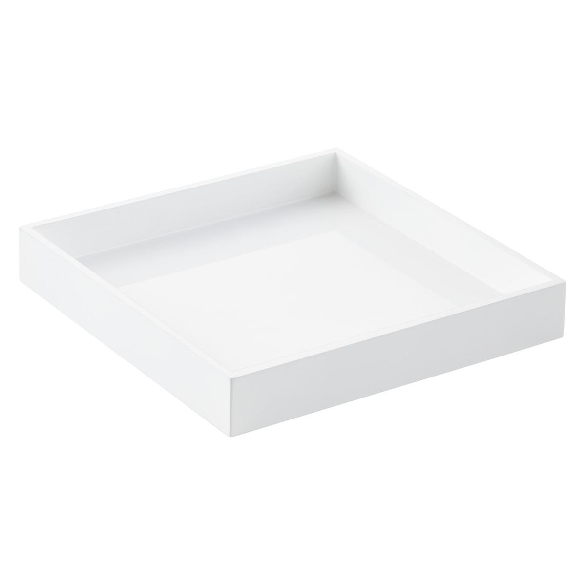 White Square Lacquered Tray