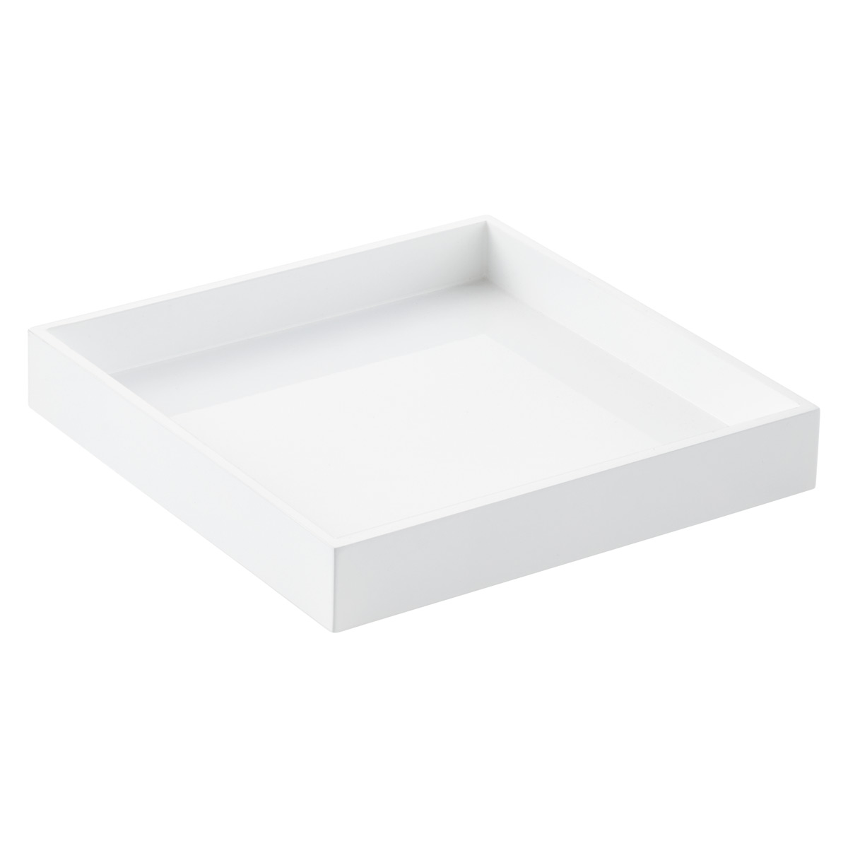 Gentil White Square Lacquered Serving Tray