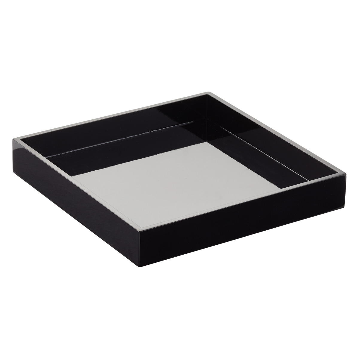 Black Square Lacquered Serving Tray