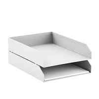 bigso white stockholm set of 2 stackable letter trays