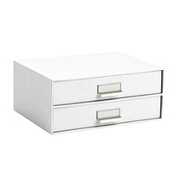 Bigso Classic White Stockholm Paper Drawers