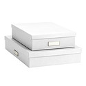Bigso Classic White Stockholm Office Storage Boxes