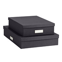Bigso Graphite Stockholm Office Storage Boxes