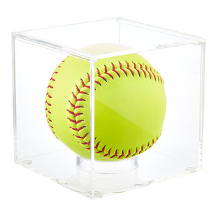 Acrylic Softball Premium Display Cube