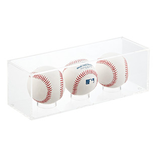 Acrylic Triple Baseball Premium Display Cube
