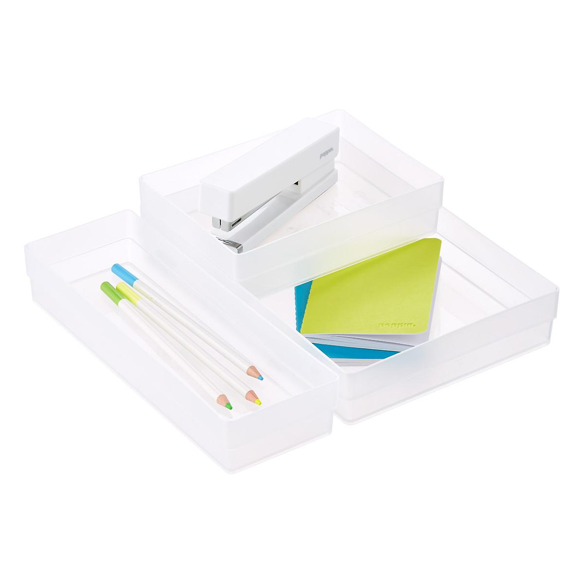 Clear Shallow Stackable Drawer Organizers