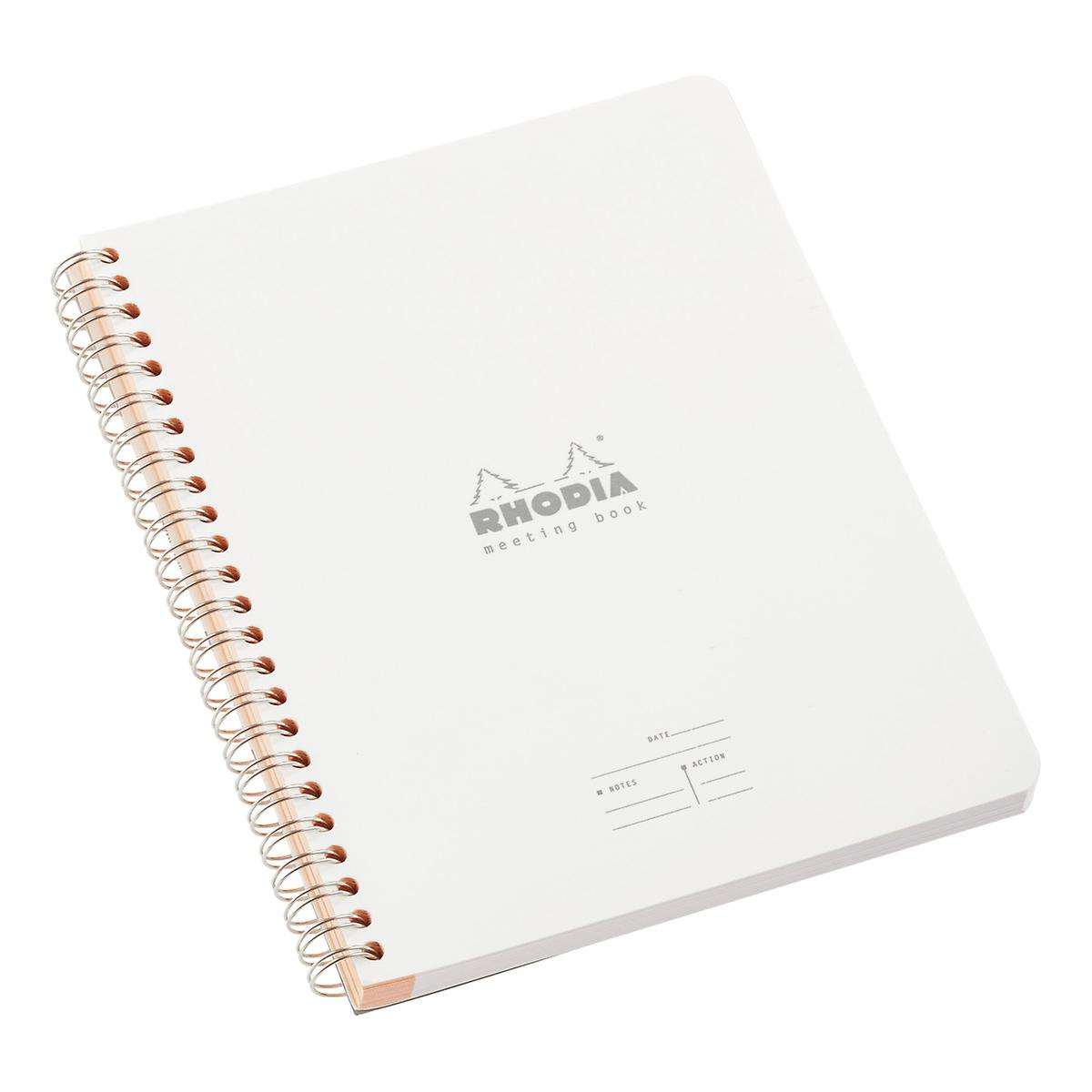 Small White Rhodia Meeting Book