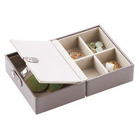 mink folding travel jewelry storage tray