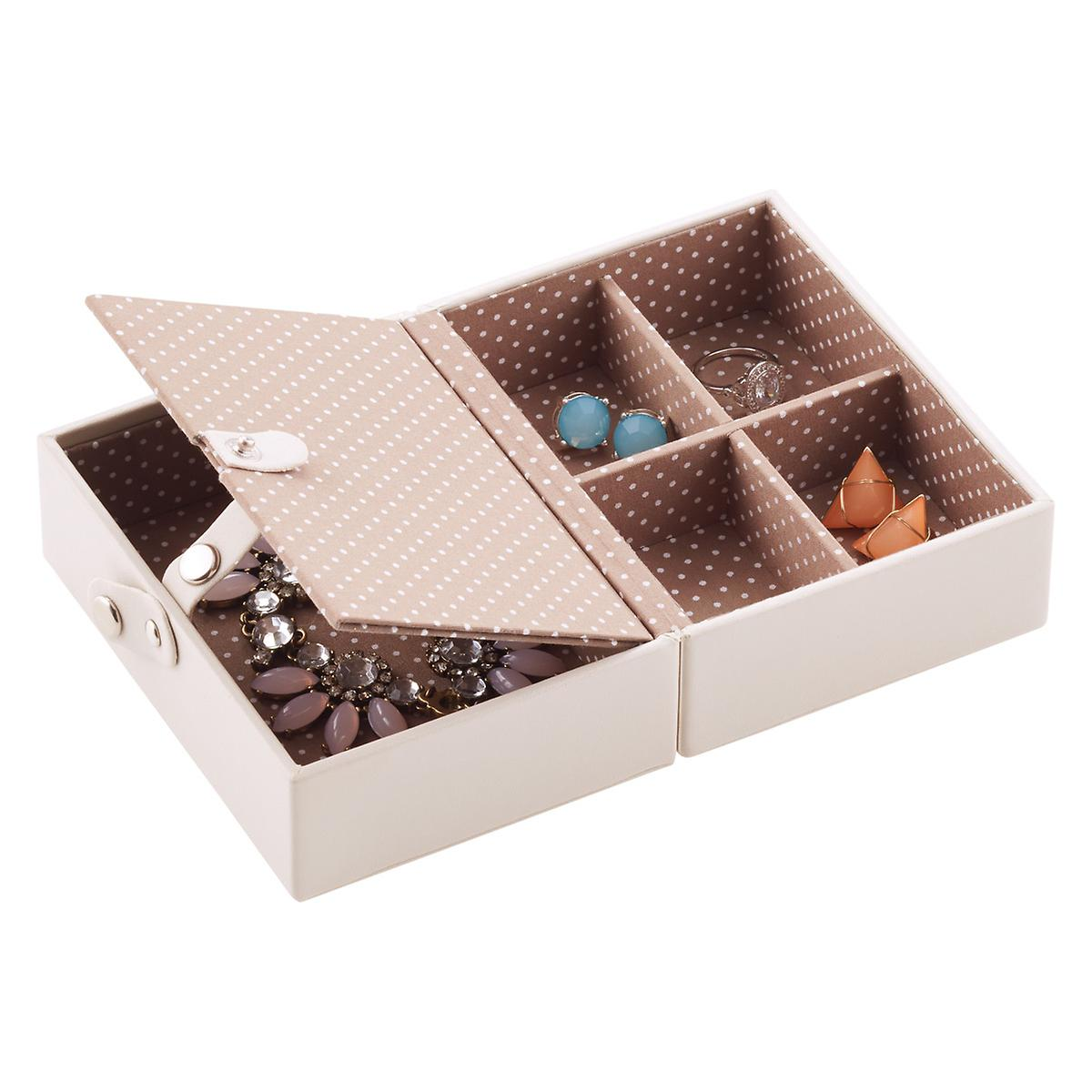 vanilla folding travel jewelry storage tray the