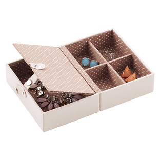 Vanilla Folding Travel Jewelry Storage Tray