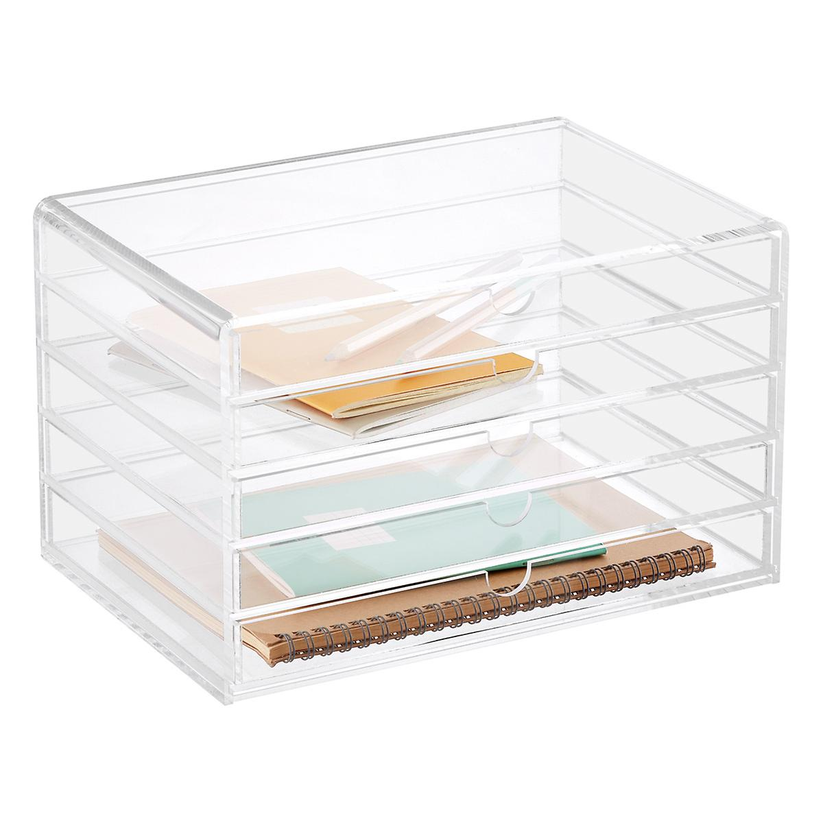 5 Drawer Premium Acrylic Accessory Box The Container Store