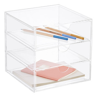 3 Drawer Premium Acrylic Accessory Box The Container Store