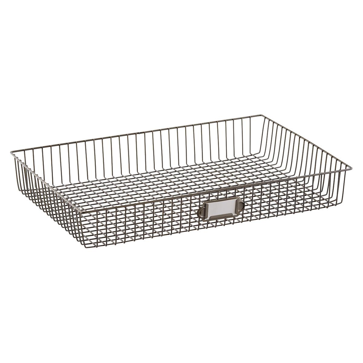 11quot x 17quot wire letter basket the container store With 11x17 letter tray