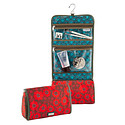 Red Lace Hanging Toiletry Organizer