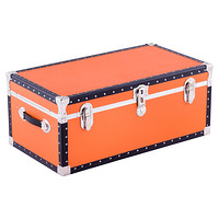 Orange Footlocker with Tray
