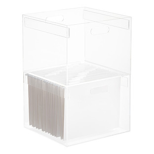 Stacking Acrylic Hanging File Box