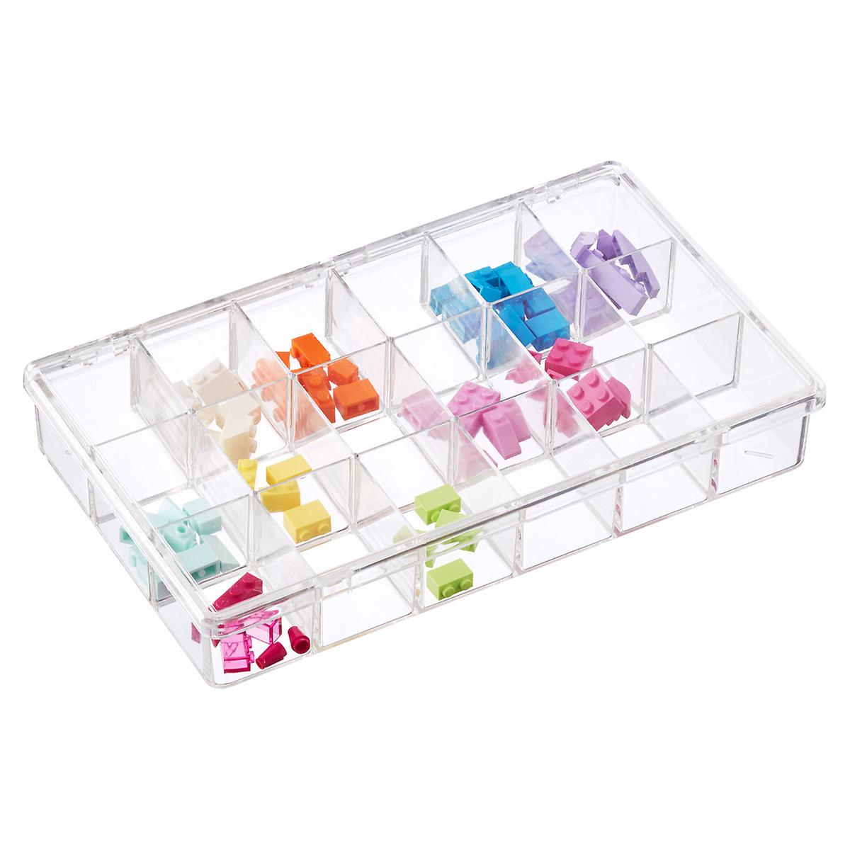 18-Compartment Clear Box