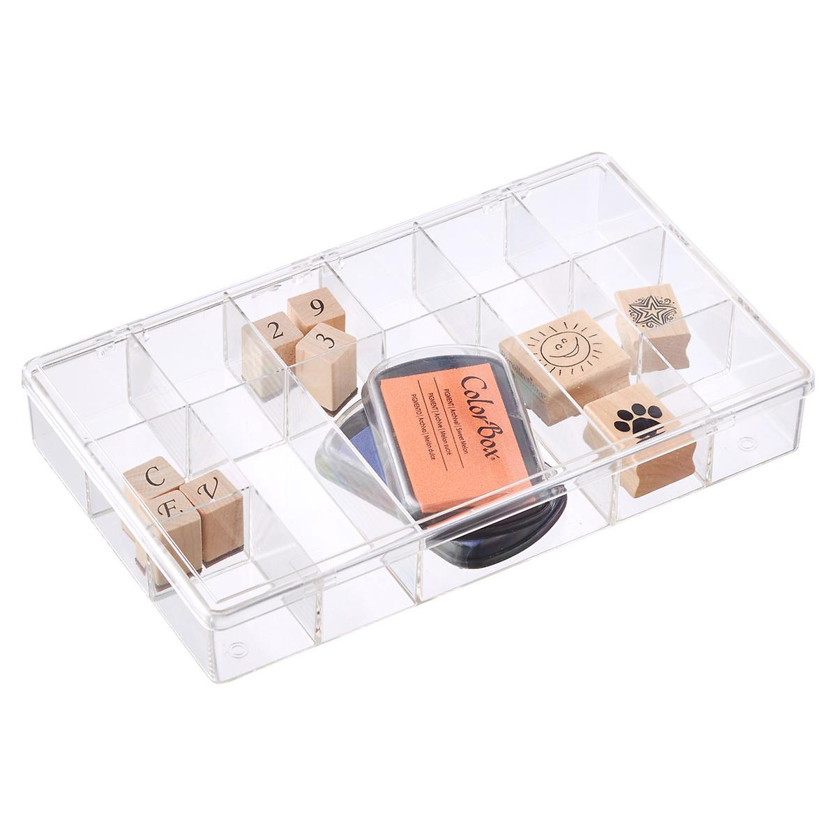 13-Compartment Clear Box