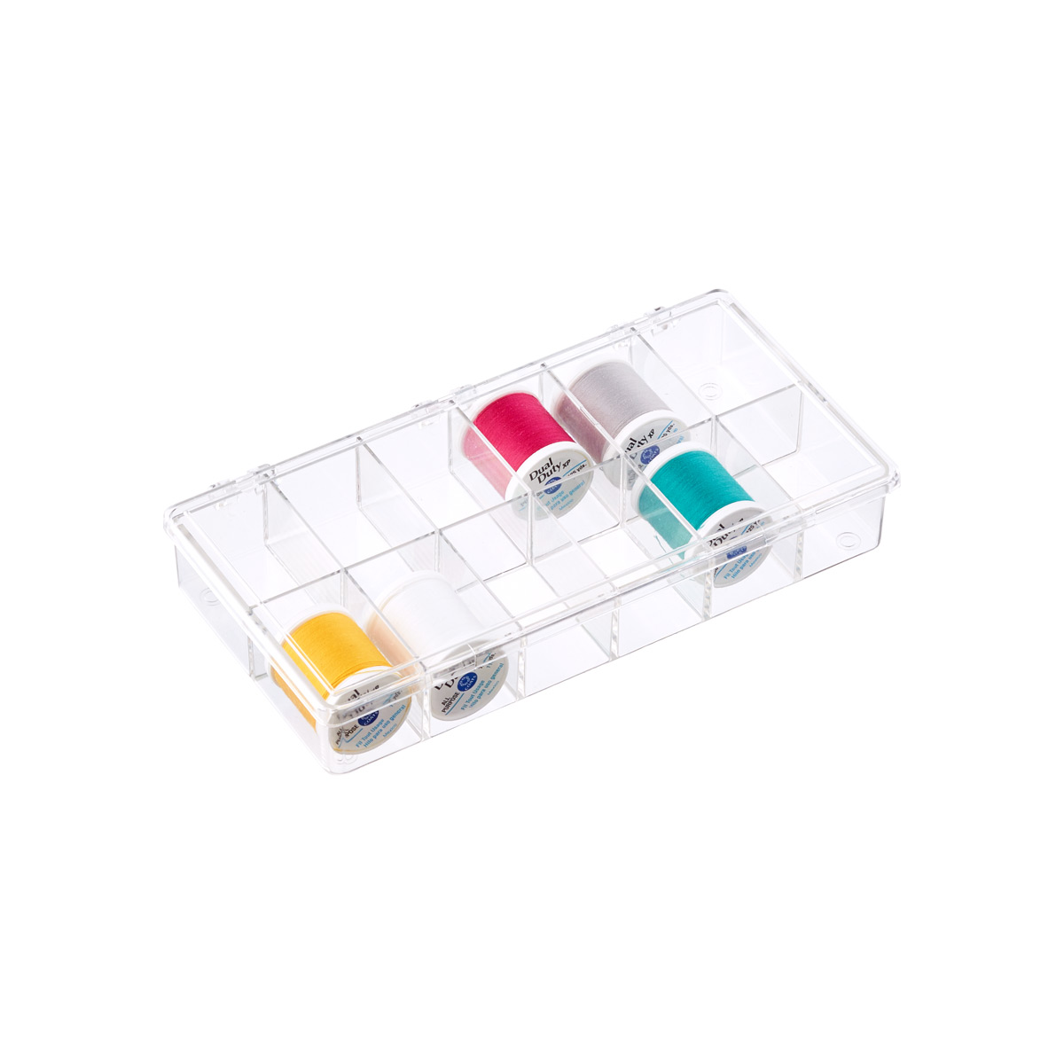12-Compartment Small Clear Box