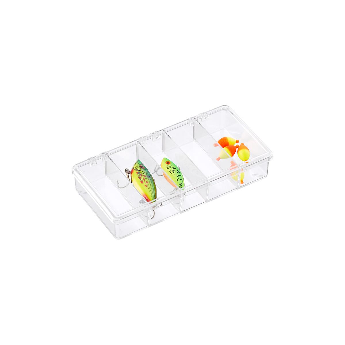 5-Compartment Small Clear Box