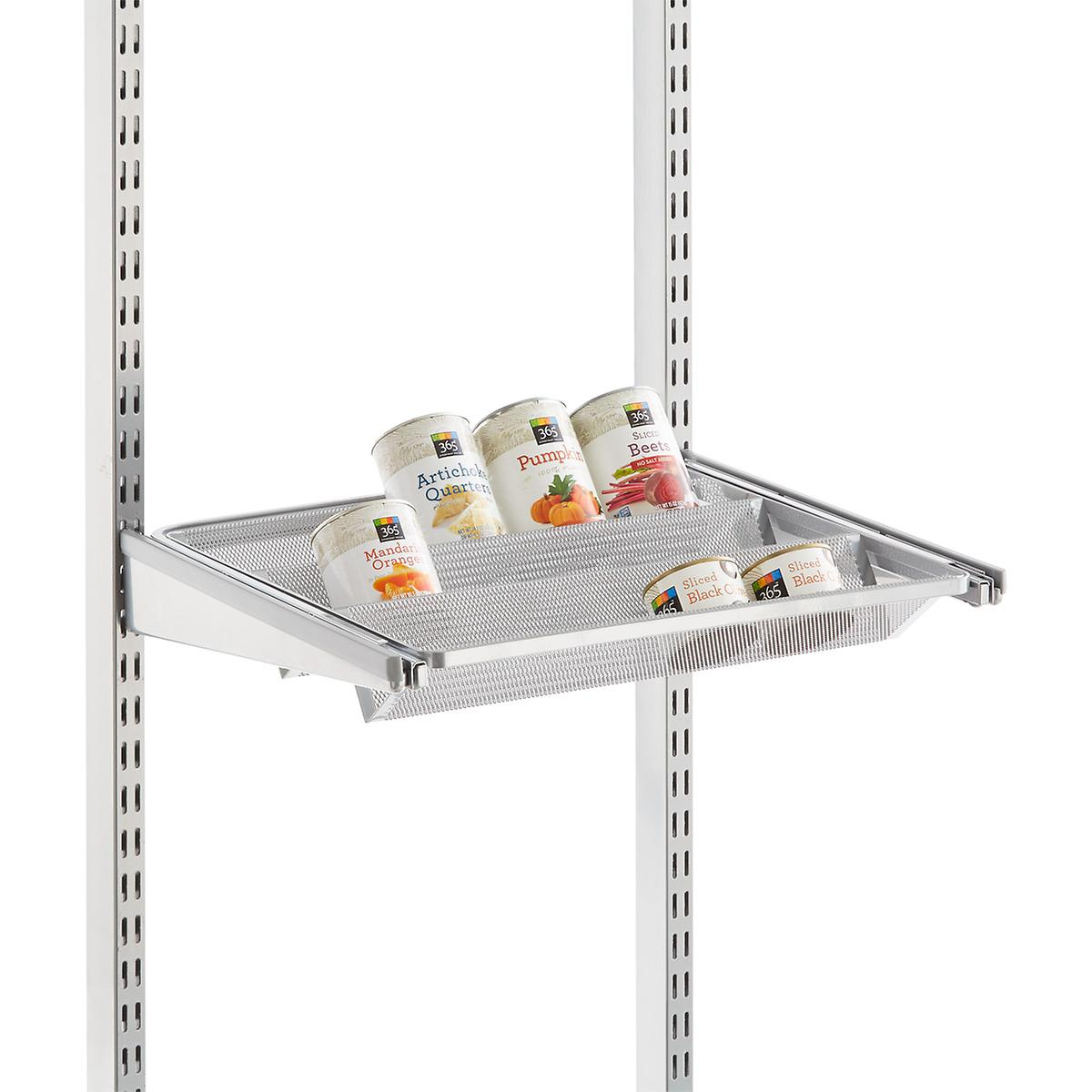 Platinum Elfa Gliding Tiered Shelves