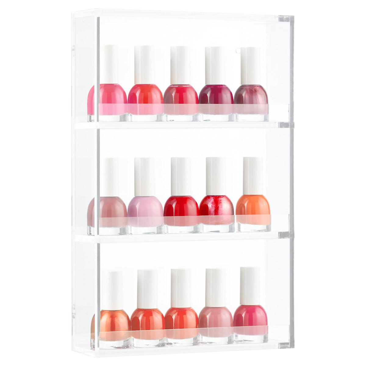 Nail Polish Rack - 3-Tier Acrylic Nail Polish Rack