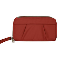 Travelon Red RFID-Blocking Double Zip Wallet