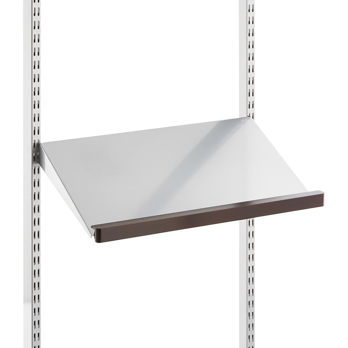 White Elfa Angled Solid Metal Shelves The Container Store