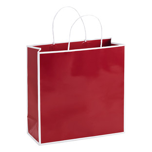Medium Bordered Red Gift Bag
