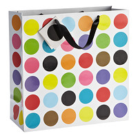 Large Multi Dots Gift Bag