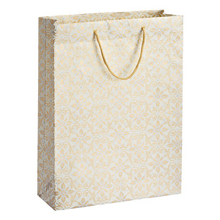 Vivid Wrap Jumbo Gold & Silver Scroll Floral Gift Bag