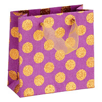 Mini Orange Glitter Dots Recycled Gift Tote