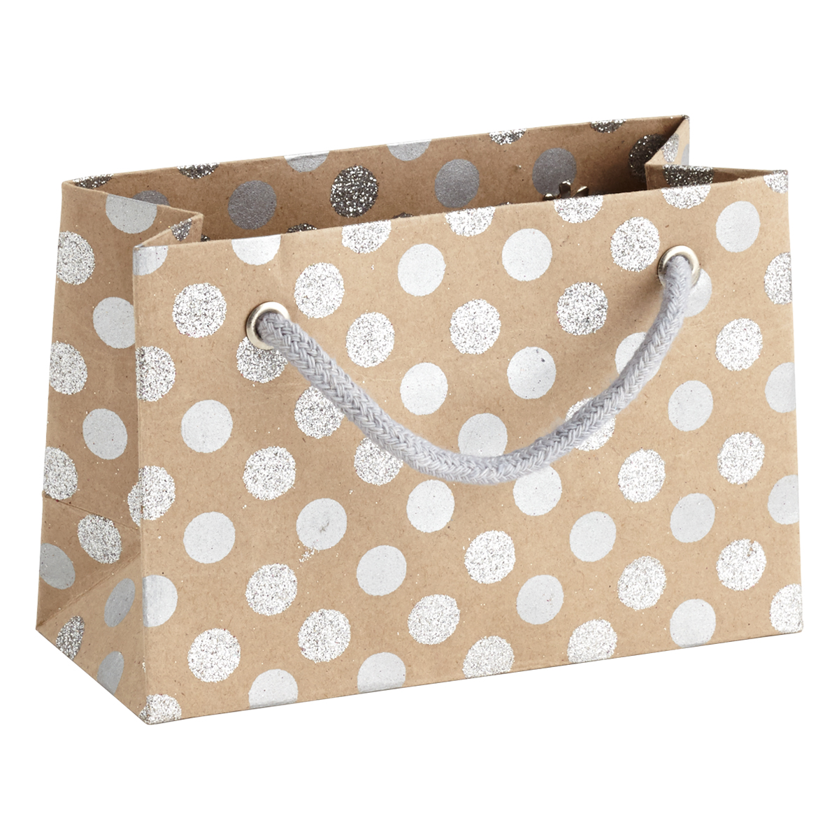 Vivid Wrap Small Silver Glitter Dots Recycled Gift Bag