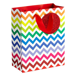 Medium Chevron Rainbow Gift Bag