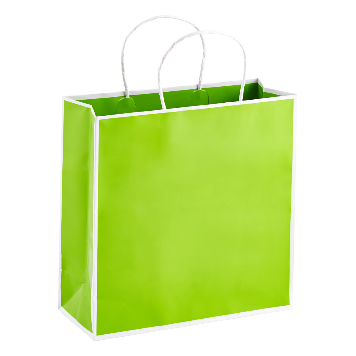 Medium Bordered Lime Gift Bag