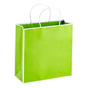 Medium Bordered Lime Gift Tote