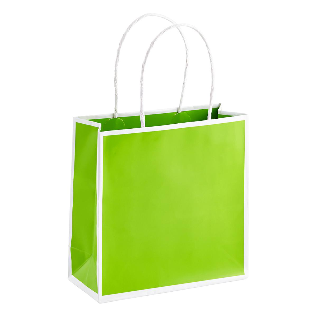 Small Lime Bordered Gift Tote