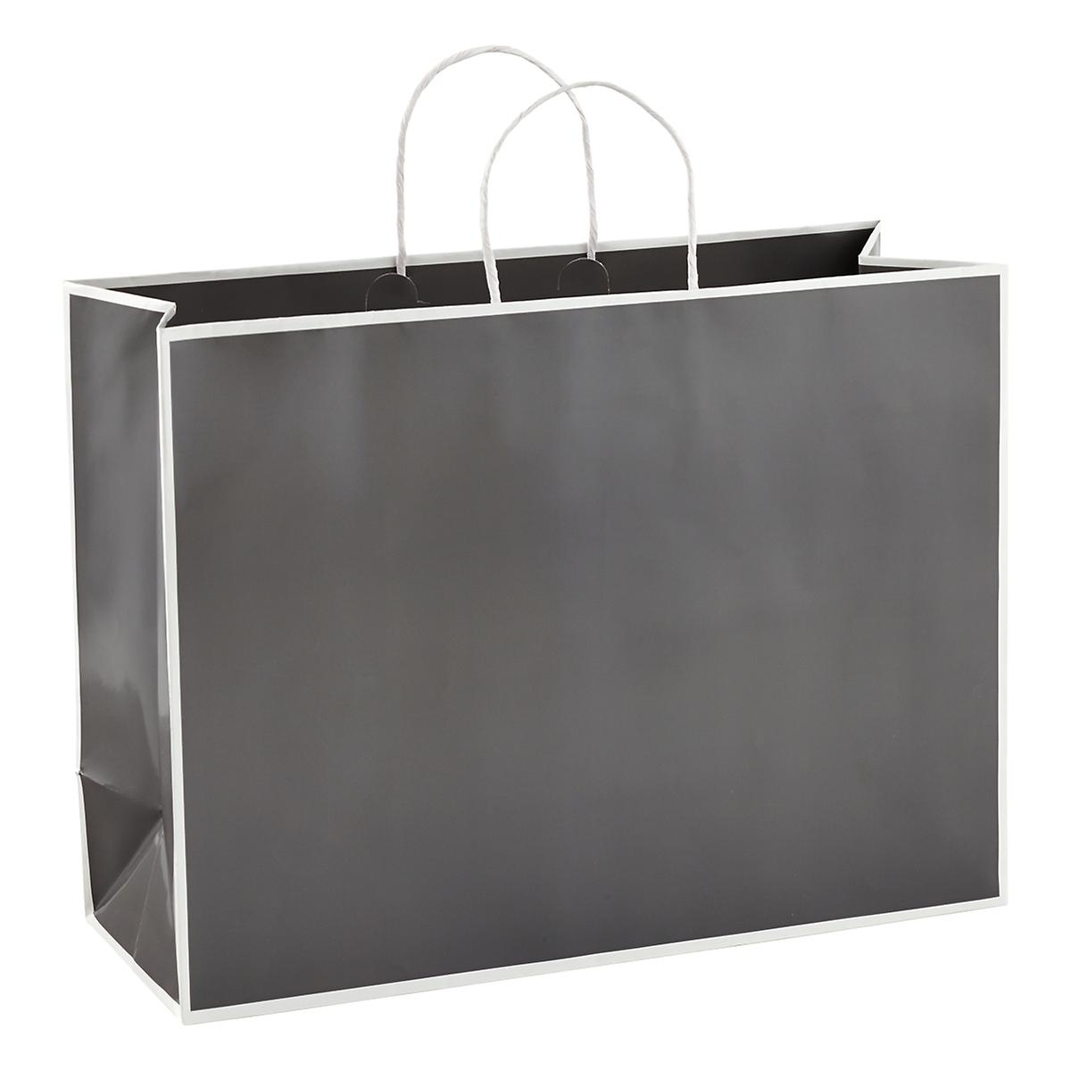 Large Bordered Grey Gift Tote