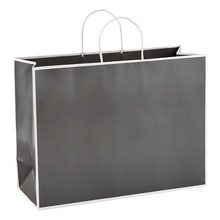 Large Bordered Grey Gift Bag