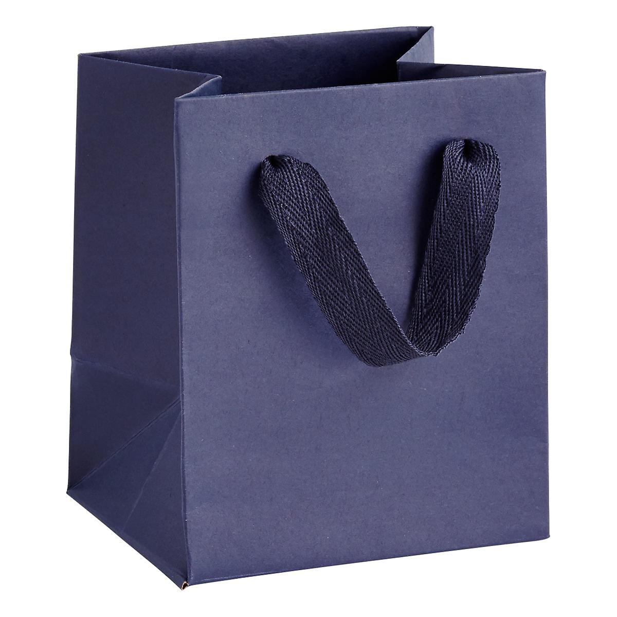 Mini Navy Blue Manhattan Recycled Gift Tote