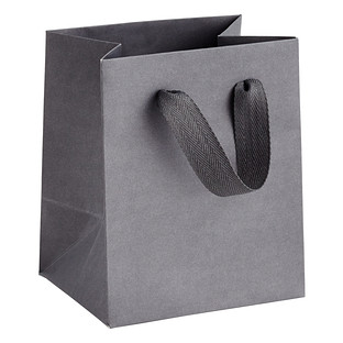 Mini Grey Manhattan Recycled Gift Bag