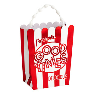 small popcorn box gift bag the container store. Black Bedroom Furniture Sets. Home Design Ideas