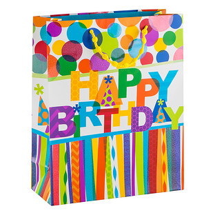 Large Happy Birthday Hooray Gift Bag