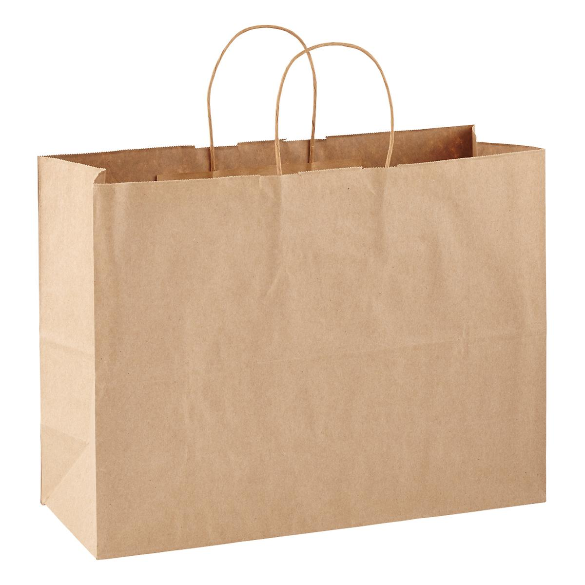 Large brown kraft gift bag the container store for Brown paper craft bags