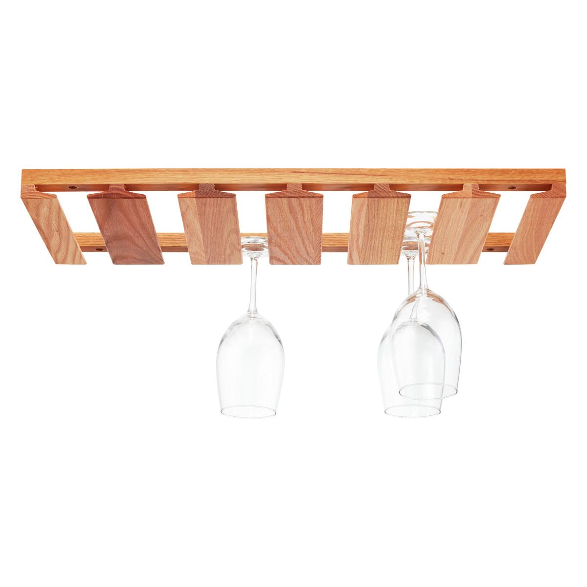 Nice J.K. Adams Oak Undercabinet Wine Glass Rack