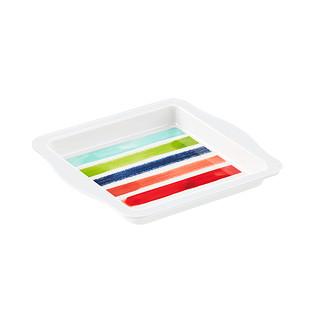 Paint Stripes Melamine Serving Tray